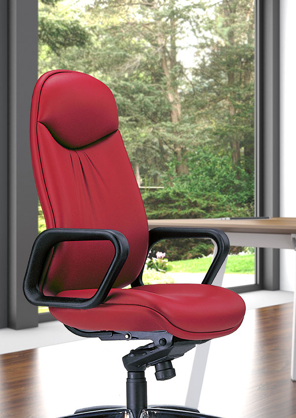anatom ergonomic office chair in red leather