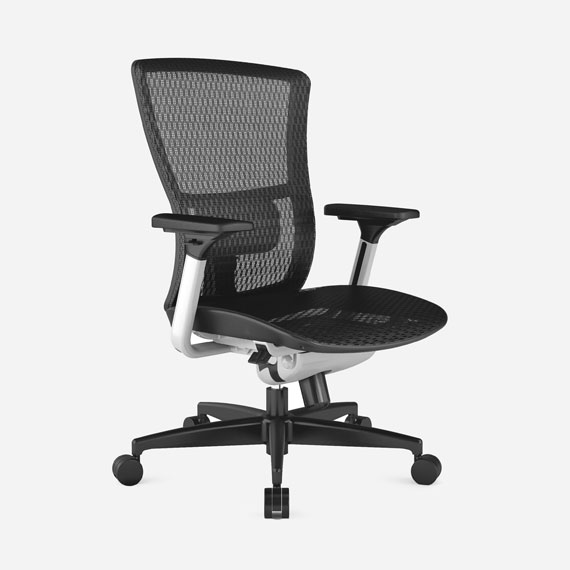 Soul office chair in full mesh and black plastic base.